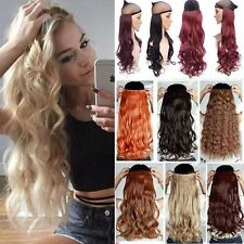 Real Thick Clip in 3/4 Full Head Hair Extensions Curly Straight As Human 1Pcs AP