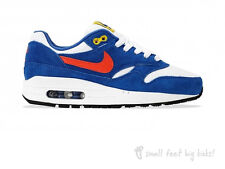 NIKE AIR MAX 1 GS HYPER COBALT SUEDE UNISEX TRAINERS 90 BOYS GIRLS FREE SHIPPING