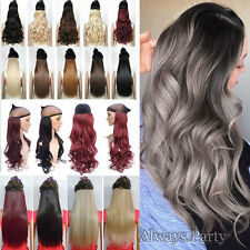 Real Thick 100% Ombre Clip In Hair Extensions Brown Blond Black As Human Hair PT