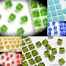 SALE! Authentic #5601 Swarovski Crystal Cube Square Beads 6mm pick colors 10pcs