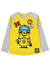George Boys Kids Official Despicable Me 3 Minion Long Sleeve T Shirt Top