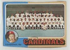 1975 Topps #246 St Louis Cardinals Team Red Schoendienst St. Baseball Card