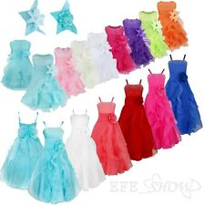 Flower Girl Dress Baby Kids Shiny Princess Dress Wedding Prom Recital Bridesmaid