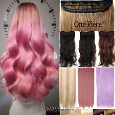 Real Thick 1Piece Clip In Hair Extensions As Human 3/4Full Head Hair Extensions