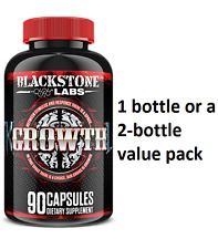 Blackstone Labs Growth - 90 caps - Builds muscle, burns fat, Fastest shipping!