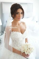 New White/ivory Lace Wedding Dress Sweetheart Backless Custom Size Bridal Gown