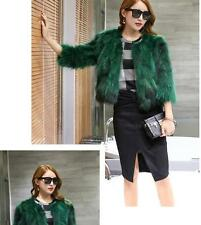 100% Real Raccoon Fur Coat Jacket Fur Coats garment woman Fur beautifu vintage