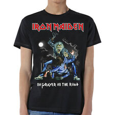 Iron Maiden Mens New T-Shirt Black No Prayer On The Road in 100% Cotton LG - 2XL
