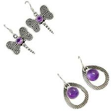 925 sterling silver amethyst earrings jewelry by jewelexi 6465A