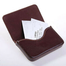 HOT Luxury Mens Leather Business Credit Card Name ID Credit Card Holder Wallet