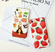 New Fresh strawberries Phone Case Cover For iPhone 7 plus Matte hard shell P599