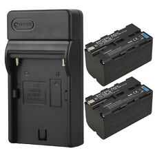 2Pcs 5200mah Camera Replacement Li-Ion Battery +Charger For Sony NP-F750 NP-F770