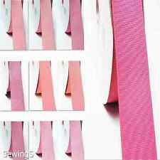 "Polyester Grosgrain Ribbon 1/4"" / 6mm Thin  Wholesale 100 Yards, all Pink Bulk"
