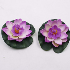 New Artificial Lotus Water Lily Floating Flower Pond Tank Plant Ornament 10cm