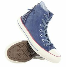 RARE WOW Converse CT Tri Zip Hi Navy Womens Trainers Washed Blue - 547317C