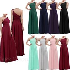 Women's Elegant Bridesmaid Flowers One Shoulder Long Evening Party Formal Dress