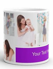 PERSONALISED MUG 6 PHOTO COLLAGE WITH YOUR TEXT IDEAL GIFT TEA COFFEE CUP