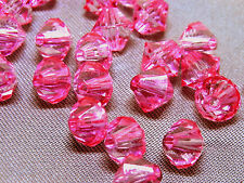 6mm 200/400/600/800/1000pcs PINK FACETED ACRYLIC PLASTIC BICONE BEADS TY2992