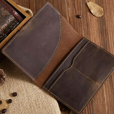 Genuine Leather Brown Bag Leather Passport Wallet Holder Case Cover Card Case