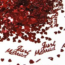 Just married Love Heart Confetti Table Wedding Party Decor Scatter Party Decor