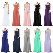 Formal One Shoulder Party Dress Women Bridesmaid Wedding Evening Ball Gown Dress