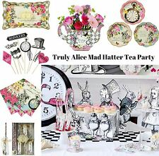 TRULY ALICE IN WONDERLAND MAD HATTER TEA PARTY VINTAGE DECORATIONS CUPS PLATES