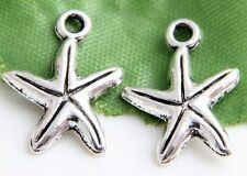 Free Ship  60/200Pcs Tibetan Silver Starfish Charms  17X13mm