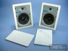 """PAIR Leviton Structured Media White 6.5"""" 2-Way In-Wall Speakers Woofer SGI65-W"""