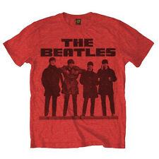 The Beatles Men's Long Tall Cotton T Shirt, Officially Licensed