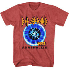 Def Leppard Mens New T-Shirt 100% Black Cotton On Through The Night in SM - 2XL