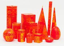 KAPULA FAIR TRADE SOUTH AFRICAN HAND PAINTED CANDLES - ' AFRICAN SUNSET DESIGN '