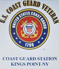 US COAST GUARD STATION KINGS POINT-NY*COAST GUARD VETERAN EMBLEM*SHIRT
