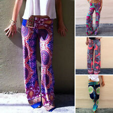 Womens Boho Baggy Harem Pants Hippie Wide Leg Gypsy Yoga Long Trousers 4 TYPES