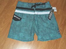 YOUNG MENS BODY GLOVE VOODOO BOARD SURF SWIM SHORTS SIZE 28 TEAL PRINT NWT