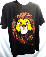 SIMBA ART The Lion King Men's Black T-shirt (Small) Official Disney NEW!!