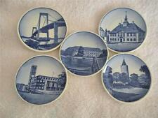5 ROYAL COPENHAGEN BUTTER PATS DISHES - 5 DIFFERENT DENMARK SCENES - MARKED