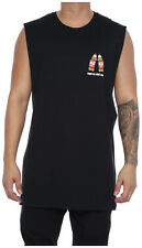 New Men's Goat Crew Goat Crew For You Muscle Tee Black Tops Singlets