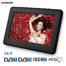 "7"" Portable Rechargeable LCD Digital DVB TV 1080P HD Video Player w/ Antenna"