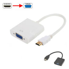 HDMI Male to VGA Female Video AV Cord 1080P Converter Adapter Cable for HDTV PC