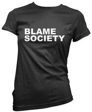 Blame Society - Rebel Anarchy Womens T-Shirt