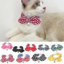 Stylish Cloth Pet Cat Kitten Dogs Small Bell Collar with Bowknot Decor -PICK