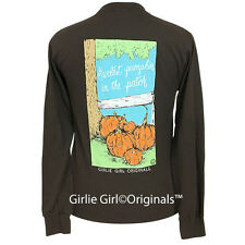 "Girlie Girl Originals ""Sweetest Pumpkin"" Dark Chocolate Long Sleeve T-Shirt"