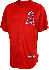 Los Angeles Angels Majestic Mens Blank Batting Practice Red Authentic Jersey