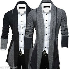 Stylish Mens Sweater Casual Long Sleeve Knitwear Cardigan Coat Jacket Outwear