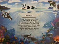 Personalized Name Meaning Print Gift Birthday New Baby Dolphins Under the Sea