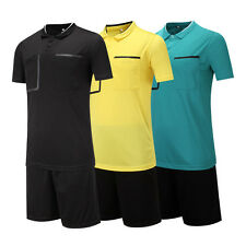 Men Youth Adult Soccer Football Short Sleeve Shirts Referee Jersey Uniforms Suit