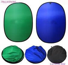 5x7Ft Background Panel Blue Green Screen Backdrop Collapsible Reversible Popup S