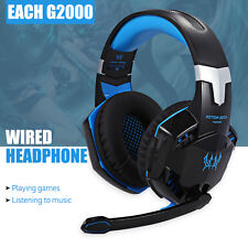 EACH G2000 Gaming Headset Stereo Sound 2.2m Wired Headphone with Mic for Gamer