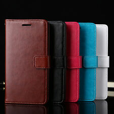 Fashion Flip Wallet Card Slot Faux Leather Case Cover for iPhone 7 Samsung Sweet