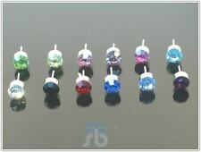 Wholesale Lot of Bulk Lot of 4mm OR 6mm Color Round Crystal Earrings Studs